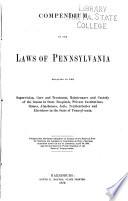 Compendium of the Laws of Pennsylvania