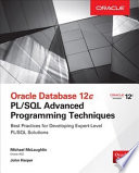 Oracle Database 12c PL SQL Advanced Programming Techniques