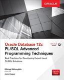 Oracle Database 12c PL SQL Advanced Programming Techniques