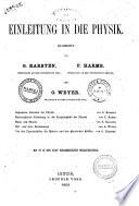 Allgemeine Encyklopadie der Physik bearbeitet von P  W  Brix      et al