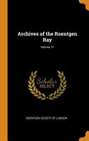 Archives Of The Roentgen Ray