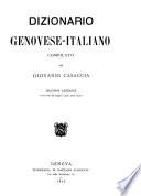 Dizionario genovese italiano