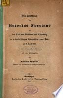 Ein Sendbrief von Antonius Corvinus an den Adel von Göttingen und Kalenberg
