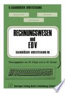 Rechnungswesen und EDV Saarbrücker Arbeitstagung /85