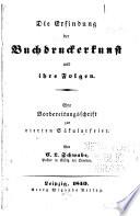 Die Erfindung der Buchdruckerkunst und ihre Folgen