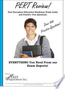 PERT Review  PostSecondary Readiness Test Study Guide and Practice Test Questions