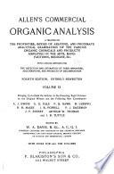 Allen s Commercial Organic Analysis