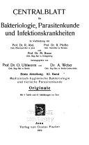 Centralblatt f  r Bakteriologie  Parasitenkunde und Infektionskrankheiten