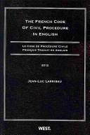 The French Code of Civil Procedure in English