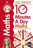 10 Minutes A Day Maths Ages 3 5