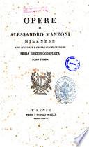 Opere tragedia di Alessandro Manzoni milanese