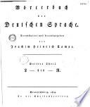 Wörterbuch der deutschen Sparche, veranstaltet und herausgegeben von Joachim Heinrich Campe