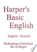 E-Book: Bedeutungswörterbuch für Anfänger - Englisch - Deutsch