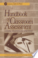 Handbook Of Classroom Assessment book