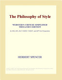 The Philosophy of Style  Webster s Chinese Simplified Thesaurus Edition