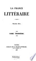 La France litteraire
