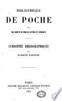 Bibliothèque de poche par une Société de gens de lettres et dèrudits