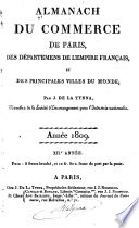 Almanach du commerce de Paris  des d  partements de l Empire fran  ais  et de principales villes du monde