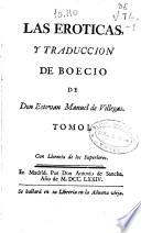 Las Eroticas y traducci  n de Boecio
