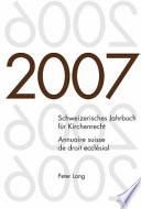 Annuaire suisse de droit ecclésial