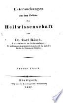 Untersuchungen aus dem Gebiete der Heilwissenschaft
