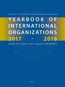 Yearbook Of International Organizations 2017 2018 6 Vols  book