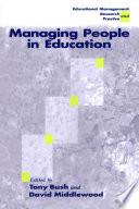 Managing People in Education