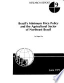 brazil s minimum price policy and the agricultural sector of northeast brazil