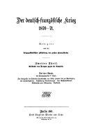 Der deutsch-franzosische Krieg 1870-71