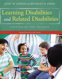 Learning Disabilities And Related Disabilities Strategies For Success book