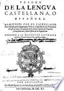 Tesoro de la lengua castellana  o espa  ola