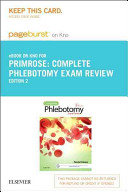 Complete Phlebotomy Exam Review Pageburst E-book on Kno Retail Access Card