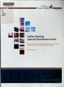 Indian Gaming Special Distribution Fund book