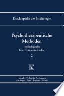 Themenbereich B: Methodologie und Methoden / Psychologische Interventionsmethoden / Psychotherapeutische Methoden
