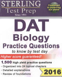 Sterling DAT Biology Practice Questions