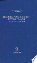 Hermann von Helmholtz' psychologische Anschauungen
