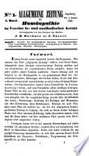 Allgemeine Zeitung f  r Hom  opathie