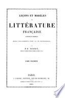 Leçons et modèles de littérature française ancienne et moderne, depuis Ville-Hardouin jusqu'à de Chateaubriand