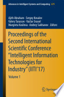 Proceedings Of The Second International Scientific Conference Intelligent Information Technologies For Industry Iiti 17