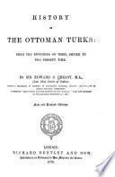 History Of The Ottoman Turks