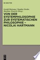 Von der Systemphilosophie zur systematischen Philosophie - Nicolai Hartmann