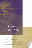 Legalization and World Politics