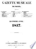 Gazette musicale de Paris