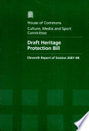 Draft Heritage Protection Bill book