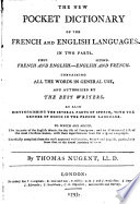 The New Pocket Dictionary of the French and English Languages Book PDF
