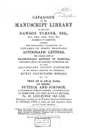 download ebook catalogue of the manuscript library of the late dawson turner, esq. formerly of yarmouth pdf epub