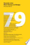 Seventy-nine Short Essays On Design : designer michael bierut's critical writing—serious or humorous, flattering...