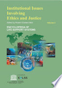 Institutional Issues Involving Ethics And Justice   Volume II