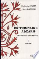 Dictionnaire abzakh