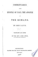 illustration du livre Commentaries on the Epistle of Paul the Apostle to the Romans